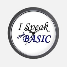 """""""I Speak Visual Basic"""" Wall Clock"""