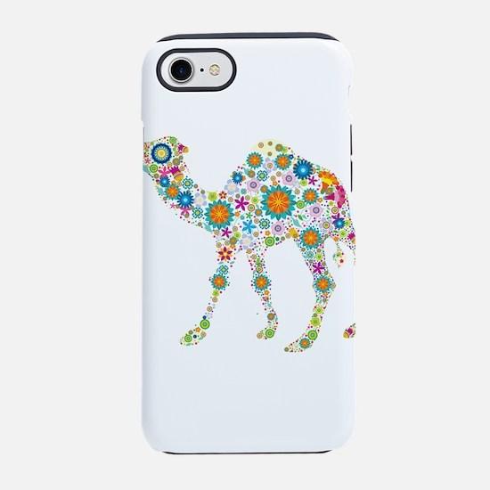Cool Colorful Retro Floral Cam iPhone 7 Tough Case
