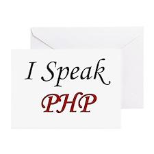 """I Speak PHP"" Greeting Cards (Pk of 10)"