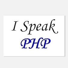 """I Speak PHP"" Postcards (Package of 8)"