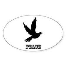 Peace and Love Dove Decal