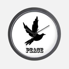 Peace and Love Dove Wall Clock
