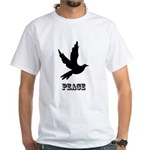 Peace and Love Dove White T-Shirt