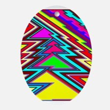 colorful holiday Oval Ornament
