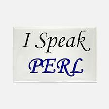 """""""I Speak PERL"""" Rectangle Magnet"""