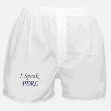 """I Speak PERL"" Boxer Shorts"