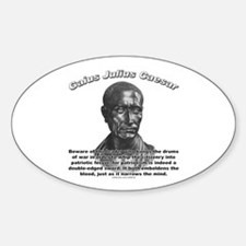 Julius Caesar 01 Oval Decal
