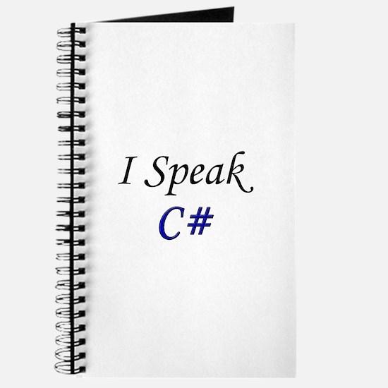 """""""I Speak C#"""" Journal"""