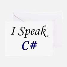 """I Speak C#"" Greeting Cards (Pk of 10)"