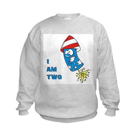 I Am Two Firecracker Kids Sweatshirt