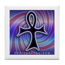 Swirly Ankh Design Tile Coaster