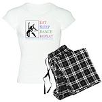 Eat Sleep Dance Repeat Women's Light Pajamas
