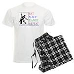 Eat Sleep Dance Repeat Men's Light Pajamas
