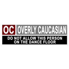 Overly Caucasian Bumper Bumper Sticker