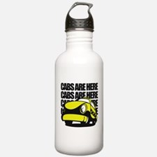 Cabs Are Here Water Bottle