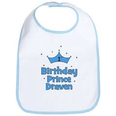 1st Birthday Prince DRAVEN! Bib