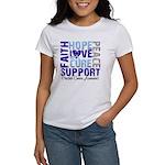 Hope Prostate Cancer Women's T-Shirt