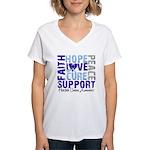Hope Prostate Cancer Women's V-Neck T-Shirt