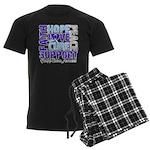 Hope Prostate Cancer Men's Dark Pajamas