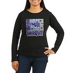 Hope Prostate Cancer Women's Long Sleeve Dark T-Sh
