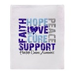 Hope Prostate Cancer Throw Blanket