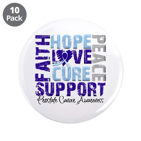 """Hope Prostate Cancer 3.5"""" Button (10 pack)"""