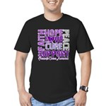 Hope Pancreatic Cancer Men's Fitted T-Shirt (dark)