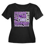 Hope Pancreatic Cancer Women's Plus Size Scoop Nec