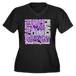Hope Pancreatic Cancer Women's Plus Size V-Neck Da