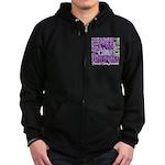 Hope Pancreatic Cancer Zip Hoodie (dark)