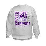 Hope Pancreatic Cancer Kids Sweatshirt