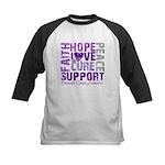 Hope Pancreatic Cancer Kids Baseball Jersey