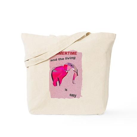 elephant summertime_Tote Bag
