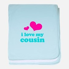 I Love My Cousin baby blanket