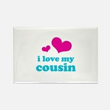 I Love My Cousin Rectangle Magnet