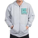 Hope Ovarian Cancer Zip Hoodie