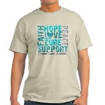 Hope Ovarian Cancer Light T-Shirt