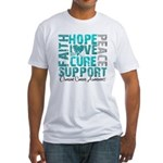 Hope Ovarian Cancer Fitted T-Shirt