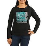 Hope Ovarian Cancer Women's Long Sleeve Dark T-Shi