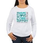 Hope Ovarian Cancer Women's Long Sleeve T-Shirt