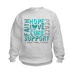 Hope Ovarian Cancer Kids Sweatshirt