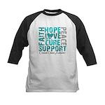 Hope Ovarian Cancer Kids Baseball Jersey