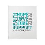 Hope Ovarian Cancer Throw Blanket