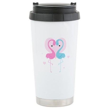Flamingos Stainless Steel Travel Mug