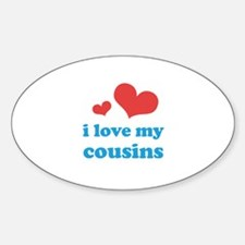 I Love My Cousins Decal