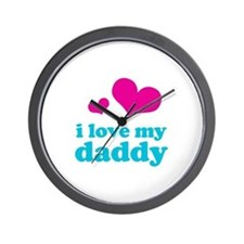I Love My Daddy Wall Clock