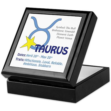 Taurus Traits Keepsake Box