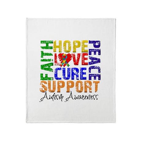 Hope Autism Throw Blanket