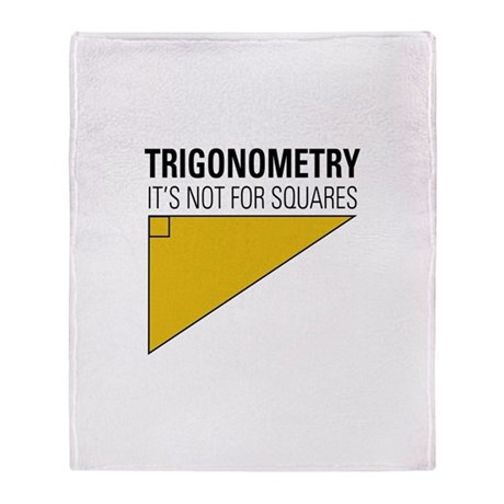 Trig Square Throw Blanket