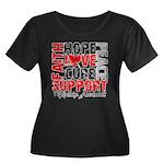 Hope Melanoma Women's Plus Size Scoop Neck Dark T-